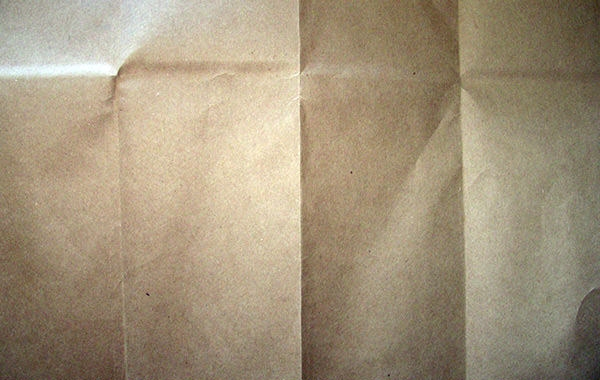 folded coffee paper bag texture