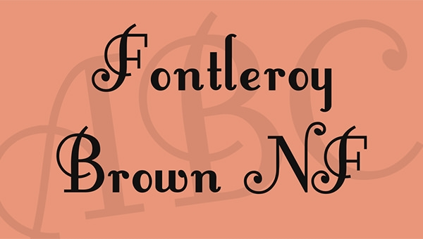 fontleroybrown-font