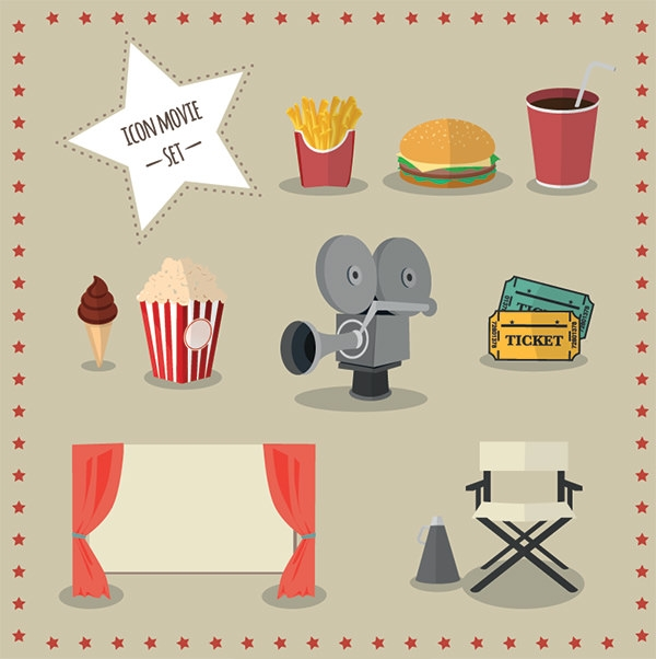 free-movie-icons-set