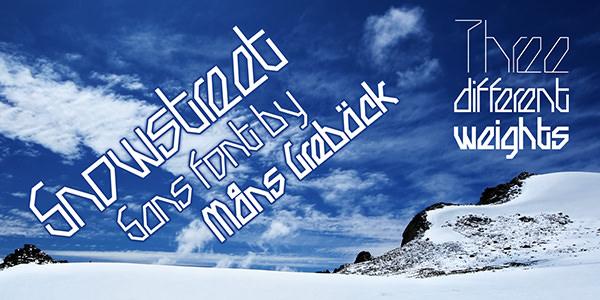 free-snowy-font