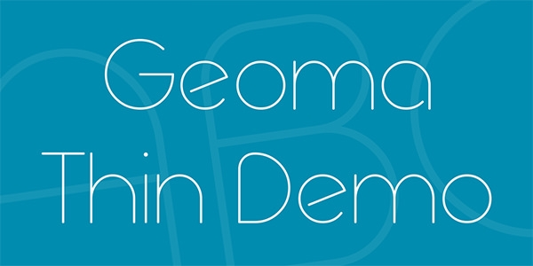 geoma-thin-demo-font