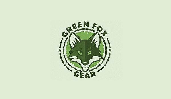 green fox logo design