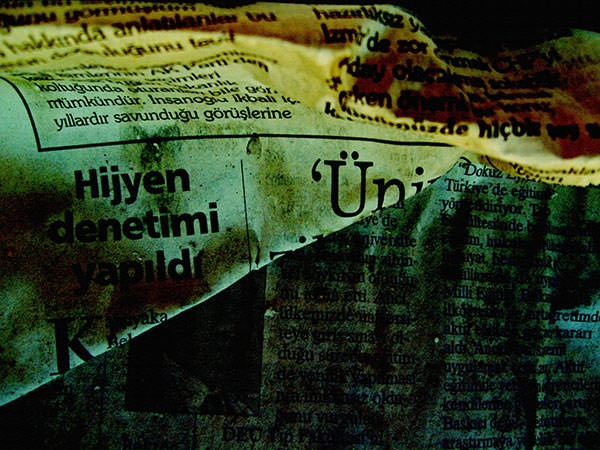 grunge old newspaper texture