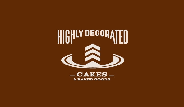 highly decorated bakery logo design