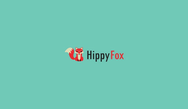 hippy fox logo design