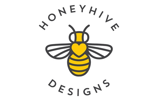 honey hive logo design