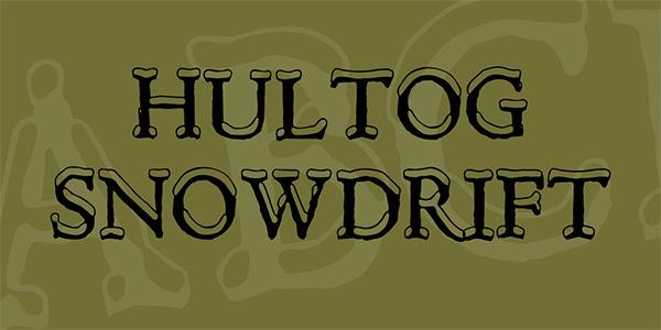 hultog-snowdrift-font-
