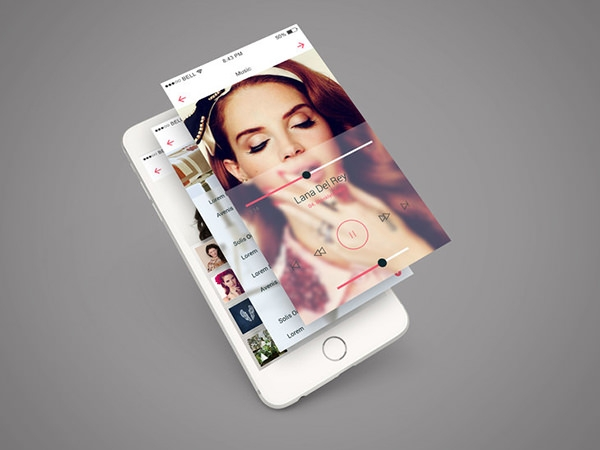 iphone 6 app screen mockup