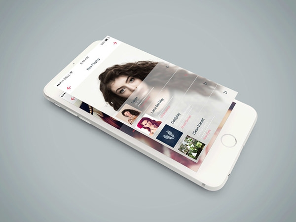 isometric iphone 6 mockup psd