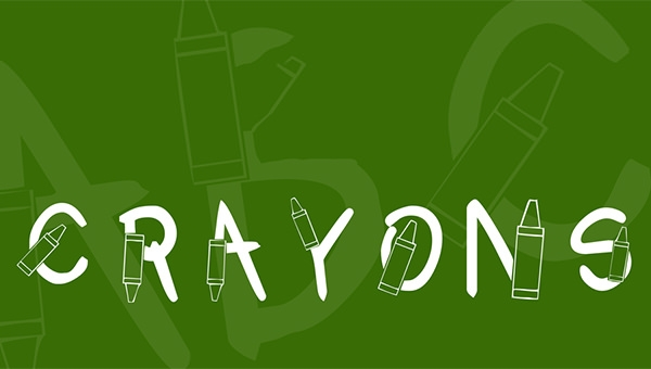 kr-crayons-font