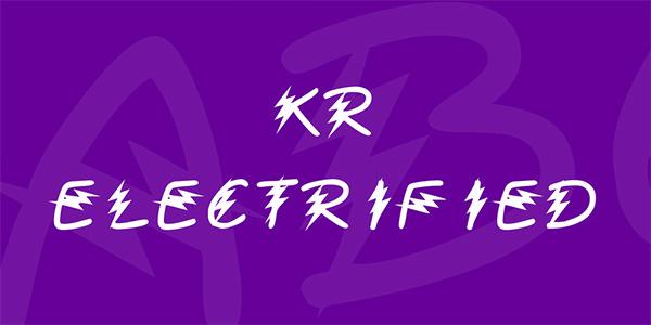 kr-electrified-font