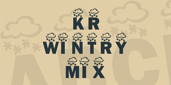 kr-wintry-mix-font