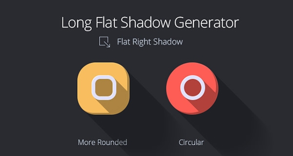 long-flat-shadow-icon-app-psd