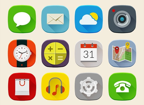long-shadow-mobile-icons