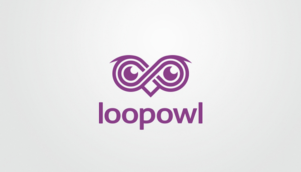 loop owl logo design