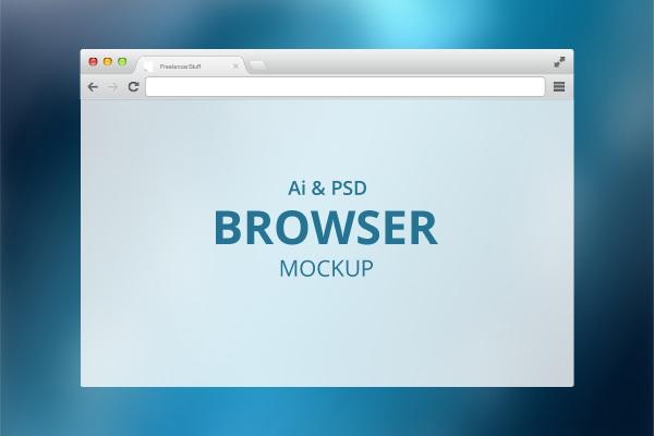 modern Browser-Mockup