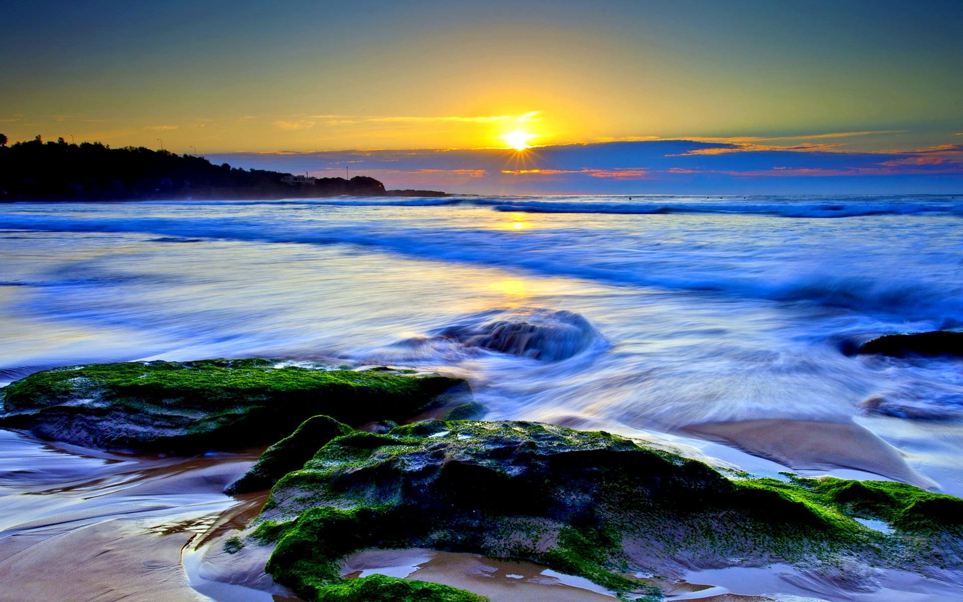 most beautiful ocean sunset widescreen high definition wallpaper
