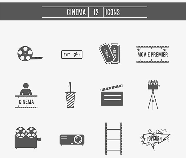movie-cinema-icons-set