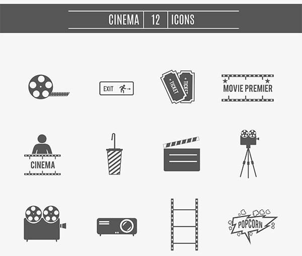 movie-cinema-icons-set