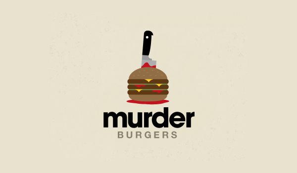 murder burger logo design