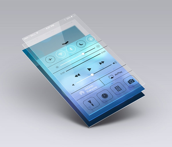 music app screen mockup