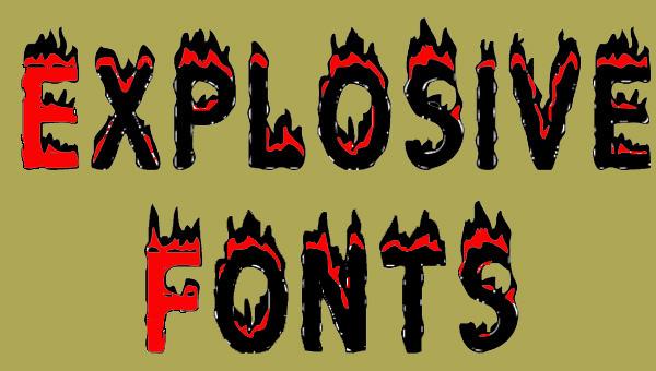 plastic-explosive-fonts