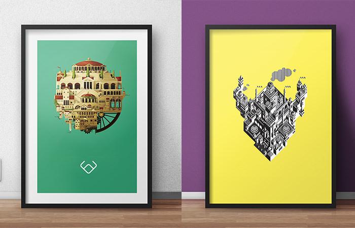 15+ Free PSD Poster Frame Mockups|FreeCreatives