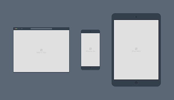 psd mobile browser mockup