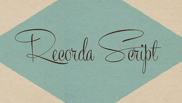 recorda-script_font