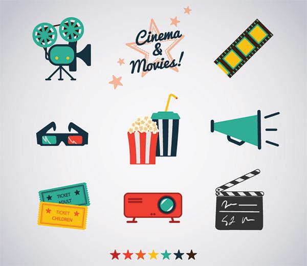 retro-style-movie-icons-free-vector