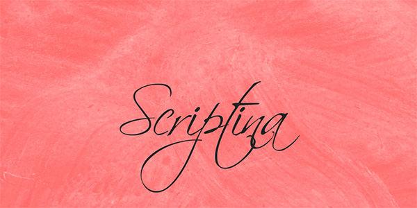 scriptina-font