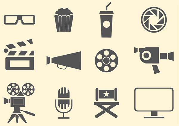 simple-film-icons-set