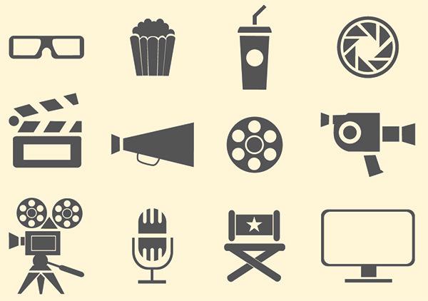 simple-film-icons-set