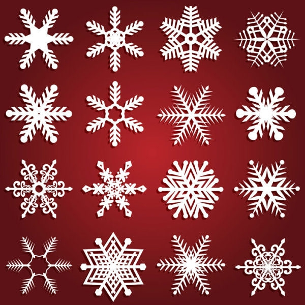 snowflake pattern design elements