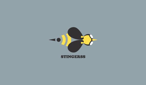 stingerss logo design