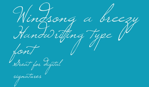windsong free thin font