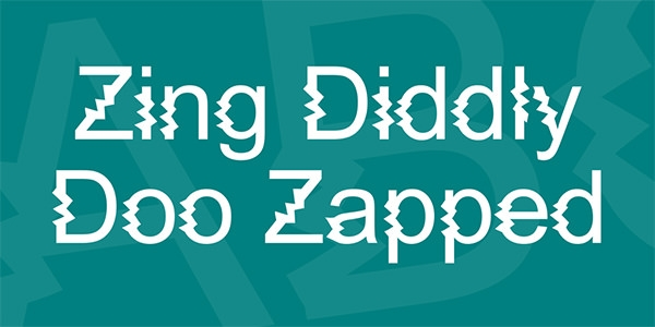 zing diddly doo zapped font for free