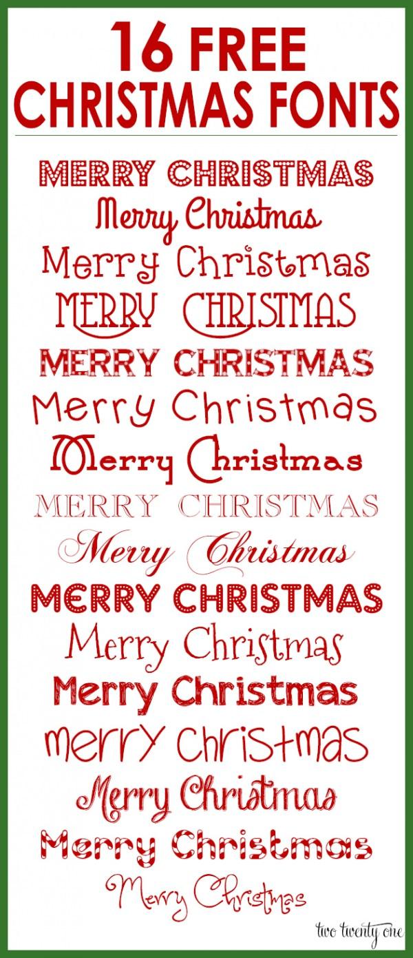 16 Free Christmas Fonts