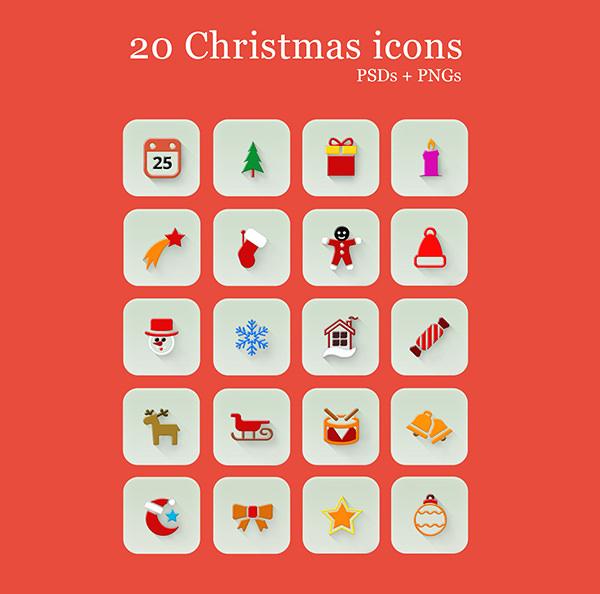 20--flat-christmas-Icons