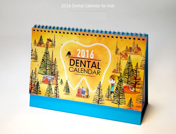 2016 dental calendar design