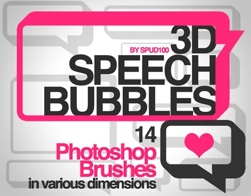 3D-Speech-Bubble-Brushes