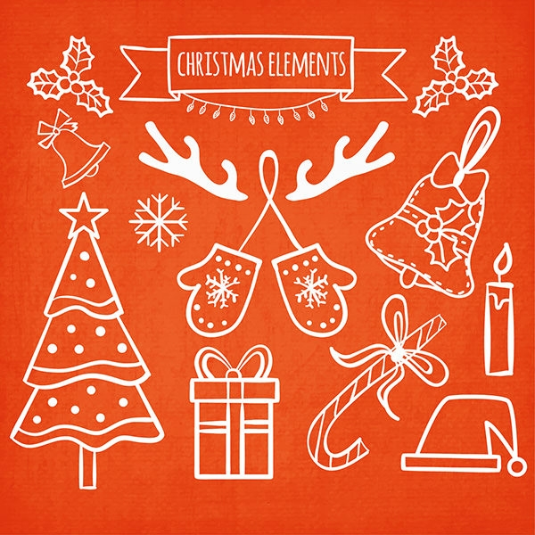 a collection of free merry christmas elements