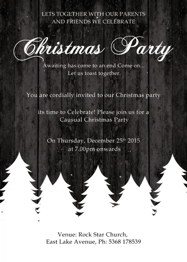 Amazing Christmas Party Invitation Card