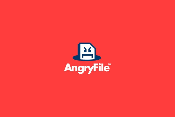angry file logo design