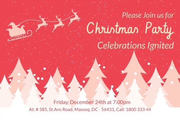 Awesome Christmas party Invitation Card