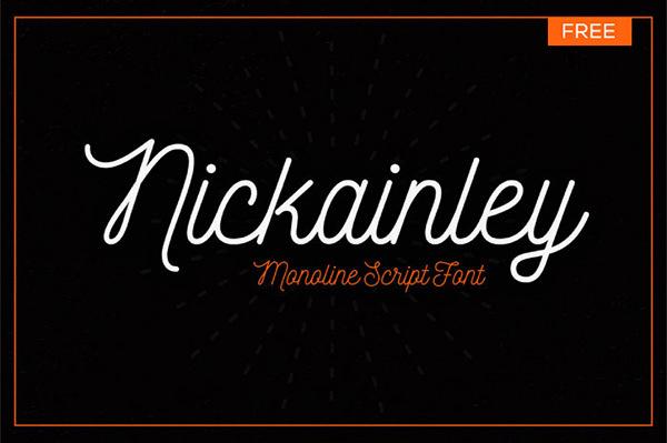 Best Free New year cursive font