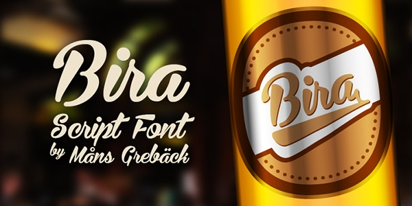 Bira-script-font