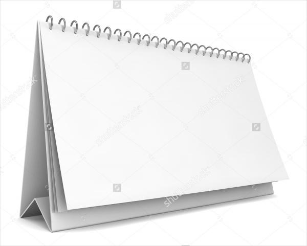 Blank calendar Mock up