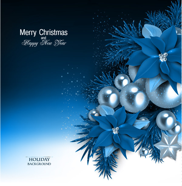 Blue Christmas Free Vector Background