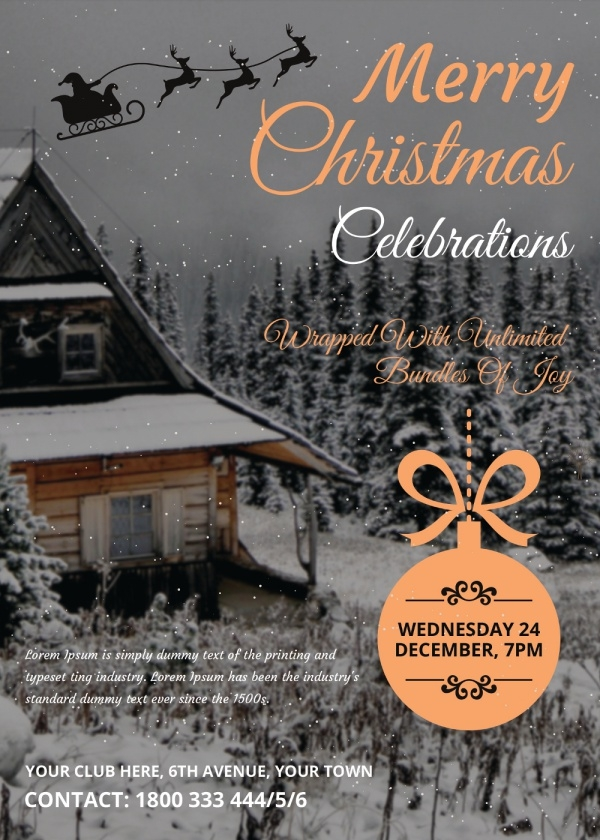Christmas Celebrations Invitation Card